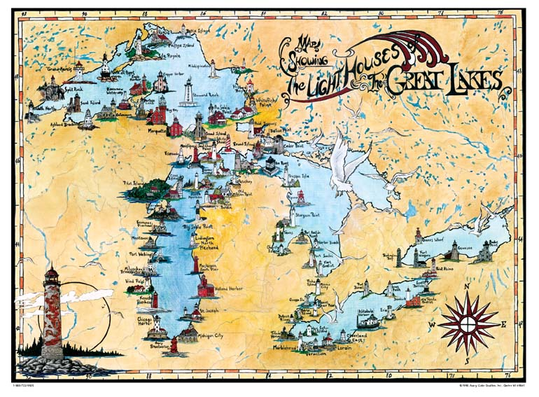great lakes shipwrecks map Avery Color Studios Inc Maps Chart great lakes shipwrecks map