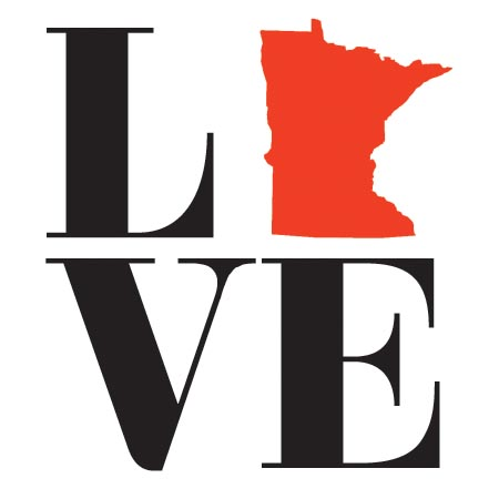 LOVE MN sticker